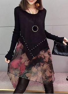 Cotton Geometric Ruffles Long Sleeve Shift Dress - Love and Joy White Lace Long Sleeve Shift Dress 2020
