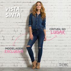 Descubra porque o #TokJeans é o que melhor veste. Vá até a sua Tok favorita, experimente qualquer jeans da coleção 2015 e nos conte o que achou, para ganhar um mimo exclusivo da Tok. <3 #UniversoTok #vistaesinta #InvernoTok2015