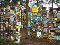 We put a sign up here years ago. The famous Sign Post Forest in Watson Lake , Yukon.    #31 fcg :)