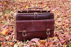Personalised Genuine Leather Mens Briefcase by LuxuryLeatherLondon