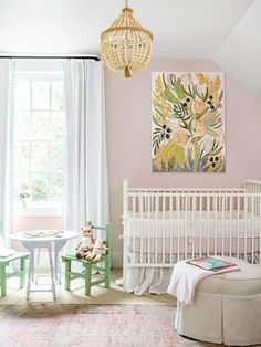 Looking to decorate your little one's nursery? Check out these adorable baby nursery inspiration and ideas that you can try at home. Blush Pink Paint, Pink Paint Colors, Pale Pink, Pink White, Nursery Paint Colors, Blush Color, Pink Color, Pink Blue, Baby Room Decor