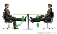 """Under the desk leg exercise. Discovery Health """"10 Office Exercises You Can Do Secretly"""""""
