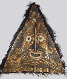 Here is a tringle masks that was made in Papua New Guinea.