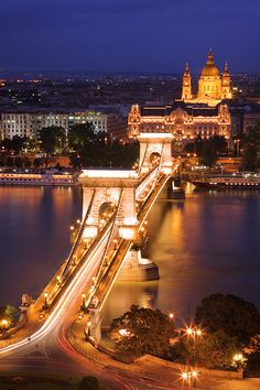 """Budapest by Night"" by Yury Prokopenko. Budapest is the capital and the largest city of Hungary, the largest in East-Central Europe and the seventh largest in the European Union. Places Around The World, Oh The Places You'll Go, Places To Travel, Places To Visit, Around The Worlds, Night City, Night Night, Night Shot, Budapest Hungary"