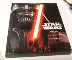 STAR WARS BLU-RAY AND DVD SET OF THREE MOVIES
