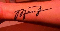 Michael Jordan's signature