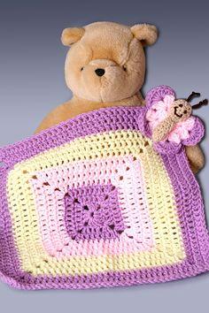 Crochet Baby Lovie Afghan  Butterfly by PerfectKnotCrochet on Etsy, $27.00
