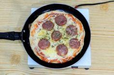 Receita - Pizza de Frigideira 2.0 (melhor Explicação) Pizza Rapida, Chocolate, Food And Drink, Kitchen, Travel, Meal Recipes, Desert Recipes, Delicious Recipes, Yummy Recipes