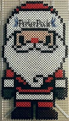 You guys should've known that I was gonna make a Santa perler eventually! (I couldn't figure out where to place my Watermark, so I just put it on his hat.)