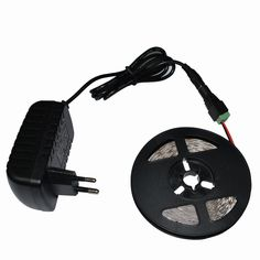 5M DC12V SMD 3528 2835 LED strip light 60 LED/M No waterproof + DC 12V 2A Power Adapter + DC female for indoor string light