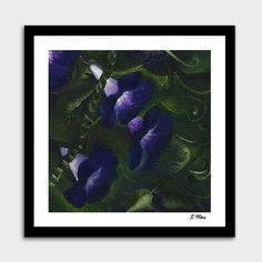 Bean Flowers. Original Oil Painting. Wild Flowers. Purple