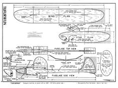 Tufurwun - plan thumbnail Smooth Lines, We Remember, Model Airplanes, The Good Old Days, Cutaway, How To Plan, Gliders, Wood Carving, Free