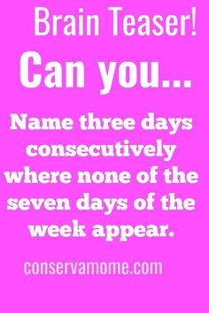 Can you figure out the answer to this #brainteaser? If not click on the link to see the answer. #riddle Funny Jokes And Riddles, Riddles With Answers Clever, What Am I Riddles, Brain Teasers Riddles, Funny Puzzles, Brain Teasers With Answers, Tricky Riddles, Funny Brain Teasers, Best Brain Teasers