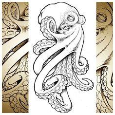 octopi Sketch | ... octopus #drawing #sketch #metamorphtattoo