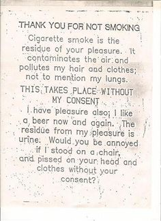 Thank you for not smoking - Win Picture