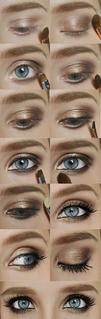 So, for this look you work mainly with Half Baked(HB), Smog(S) and Darkhorse(D). I applied S just in the center of the lid, then D in the crease, blend them. Under the eye you apply D again. Draw a line close to your lashes and blend it with the S and D. Apply HB closer to the corner of the eye and that might complete the look. I also used REVLON in my waterline. You may want to add more D or S as this look is smoky.