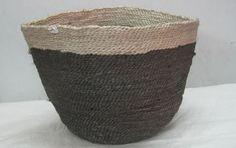 Anika Jute Basket - Natural/Charcoal