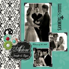 One of 6 wedding collage layouts for a friend's recent wedding