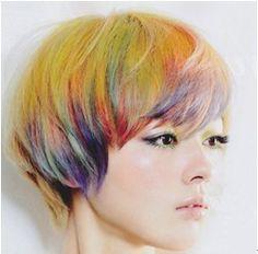 colorful hair - looks like chalk