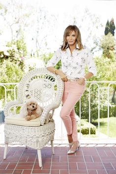 Here's our very popular utility shirt with my logo buttons in a fox print. Perfect with my skinny colored stretch jeans for early fall. Honey Bun thinks it should have poodles not foxes. Maybe next season. (Fall '14 photo shoot)