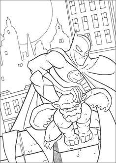 Kleurplaten Van Batman.16 Beste Afbeeldingen Van Batman Kleurplaten Kleuren En