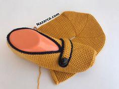 sesli-aciklamali-tunus-yeni-patikler Knitted Booties, Baby Knitting Patterns, Sunglasses Case, Donuts, Fashion, Crocheting, Amigurumi, Frost Donuts, Moda