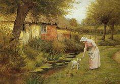 Gallery.ru / Фото #1 - Charles Edward Wilson. Английская деревня - Anneta2012