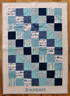 My latest baby boy quilt