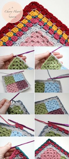 Grannie Patches Border Tutorial - gorgeous granny layers with photos of each step!