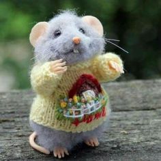 Mouse in fancy sweater