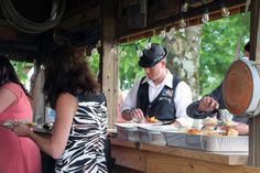 Buffet line at the Love Shack at Moonlight Fields