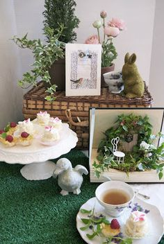 Secret Garden tea Party - for Thelma's 70th. Even have the exact picnic basket for props!