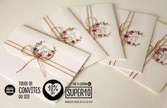Convites de casamento Chic no Último. Todos os convites do site estão com desconto ao usar o cupom SUPER10