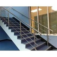 Full size of creative of stainless steel stairs design in interior ideas with staircase care decorating Steel Railing Design, Staircase Railing Design, Modern Stair Railing, Balcony Railing Design, Stair Handrail, Modern Stairs, Hand Railing, Balustrade Inox, Balustrades