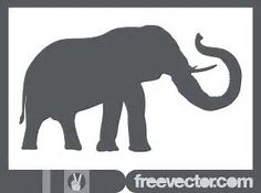 Image result for Elephant Trunk Up Design Elephant Silhouette, Silhouette Clip Art, Animal Silhouette, Elephant Images, Cartoon Elephant, Elephant Trunk Up, Elephant Head, Nature Vector, African Animals