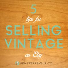 Resale Ideas Make Money - 5 Tips for Selling Vintage on Etsy — FEMTREPRENEUR This is your chance to grab 100 great products WITH Master Resale Rights for mere pennies on the dollar! Etsy Business, Online Business, Creative Business, Business Tips, Etsy Vintage, Vintage Shops, Little Corner, Vintage Outfits, Vintage Clothing
