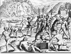 Esta imagen enseña las  Brevísima relación de la destrucción de las Indias.