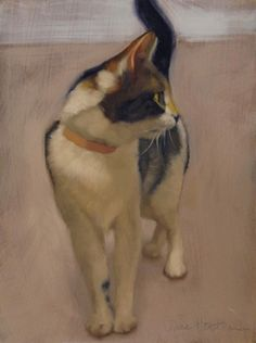 Sam new cat painting, painting by artist Diane Hoeptner
