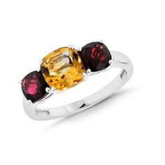 Citrine and Garnet Ring in Sterling Silver - Size 7. Deal Price: $29.99. List Price: $83.97. Visit http://dealtodeals.com/top-trending-deals/citrine-garnet-ring-sterling-silver-size/d19399/jewelry/c12/