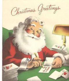 Vintage Christmas card. 1950s greeting card. Vintage by DarnSweet, £1.50