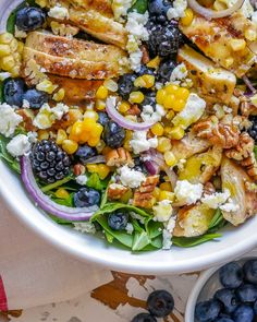 Spinach Salad With Chicken, Spinach Stuffed Chicken, Spinach And Cheese, Vegan Recipes Easy, Clean Eating Recipes, Healthy Eating, Healthy Food, Clean Meals, Healthy Sides