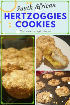 This is as South African as you can get! To sum Hertzoggies cookies up, they are a kind of jam, coconut meringue, tart like cookie. Very addictive! Coconut Tart, Unique Recipes, Meringue, Delish, Goodies, African, Baking, Breakfast, Traditional