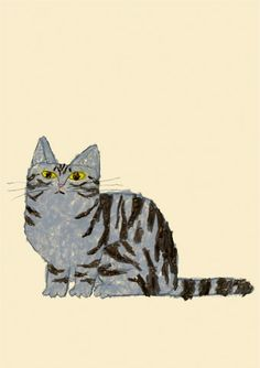 Untitled (cat) by Japanese artist Yusuke Yonezu (b.1982). via the artist's site