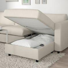 VIMLE Corner sofa-bed, - with chaise longue, Gunnared beige - IKEA Sofa Back Cushions, Sofa Bed Mechanism, Ikea Vimle, Sofa Bed Frame, Corner Sofa Design, Cosy Sofa, Mousse Polyuréthane, Bed Slats, Sofa Design