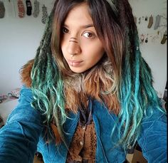 Lovely turquoise blue dreads