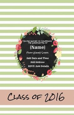 Pinterest the worlds catalog of ideas free custom invitation for graduation with your own photo and text customize online with our free invitation maker all text can be edited so it can be stopboris Gallery
