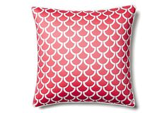 One Kings Lane - Style Your Seating - Sotas 20x20 Cotton Pillow, Coral