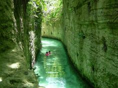 Xcaret, Mexico.  Underground Rivers.
