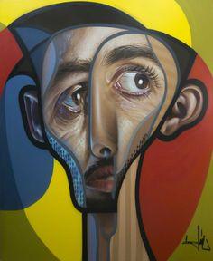 """"""" Quoi, ma gueule, qu'est-ce qu'elle a ma gueule ? """" ( Johnny Hallyday ) / Street art. / By Belin."""