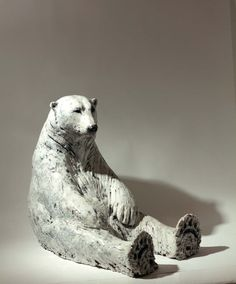 ours blanc en c ramique d corative ours model en argile art c ramique vendu animaux. Black Bedroom Furniture Sets. Home Design Ideas